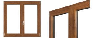 alluminio con finitura legno